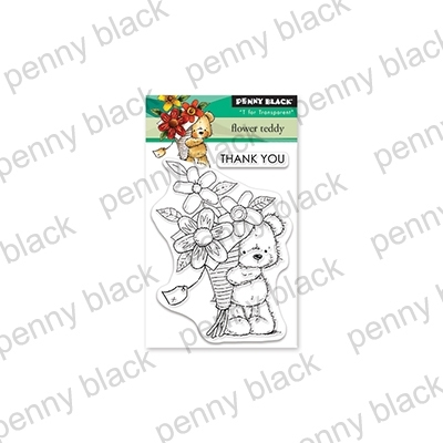 Penny Black Clear Stamps FLOWER TEDDY 30-543 Preview Image