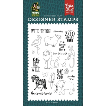 Echo Park WILD THINGS Clear Stamps zoo167041*