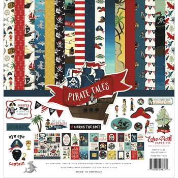 Echo Park PIRATE TALES 12 x 12 Collection Kit pta176016