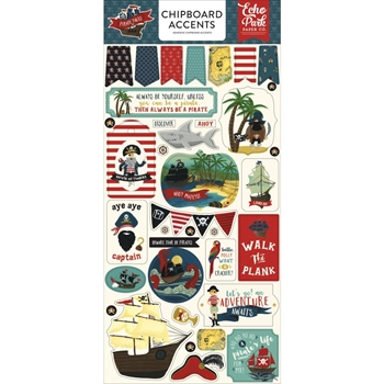 Echo Park PIRATE TALES Chipboard Accents pta176021*