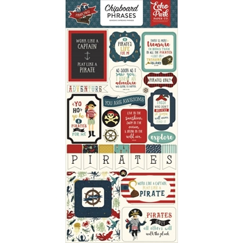Echo Park PIRATE TALE Chipboard Phrases pta176022*