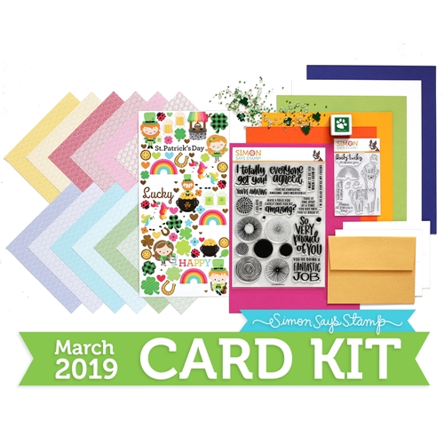 Simon Says Stamp Card Kit of The Month MARCH 2019 LUCKY RAINBOW ck0319 Preview Image