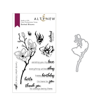 Altenew DOTTED BLOOMS Clear Stamp and Die Bundle ALT3015