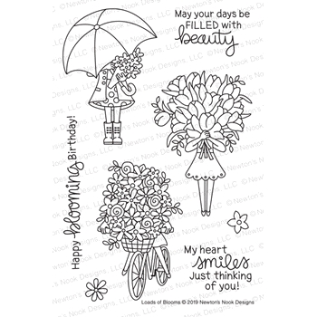 Newton's Nook Designs LOADS OF BLOOMS Clear Stamps NN1902S01