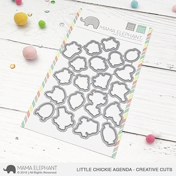 Mama Elephant LITTLE CHICKIE AGENDA Creative Cuts Steel Dies