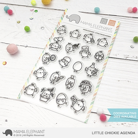 Mama Elephant Clear Stamps LITTLE CHICKIE AGENDA zoom image