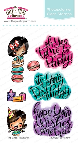 The Greeting Farm IT'S YOUR BIRTHDAY Clear Stamps TGF462 zoom image