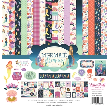 Echo Park MERMAID DREAMS 12 x 12 Collection Kit mdr175016