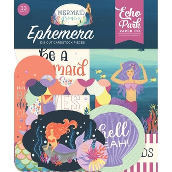 Echo Park MERMAID DREAMS Ephemera mdr175024*