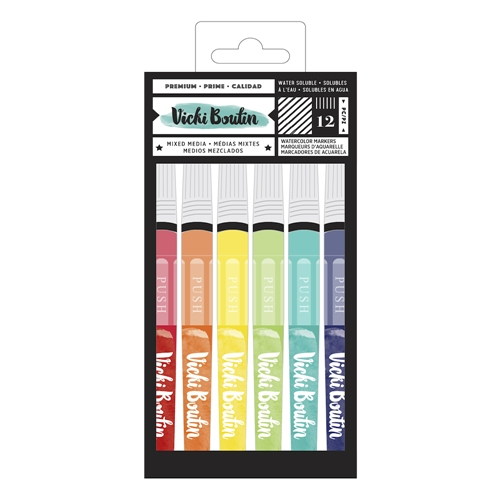 American Crafts Vicki Boutin WATERCOLOR MARKERS Color Kaleidoscope 348216 Preview Image