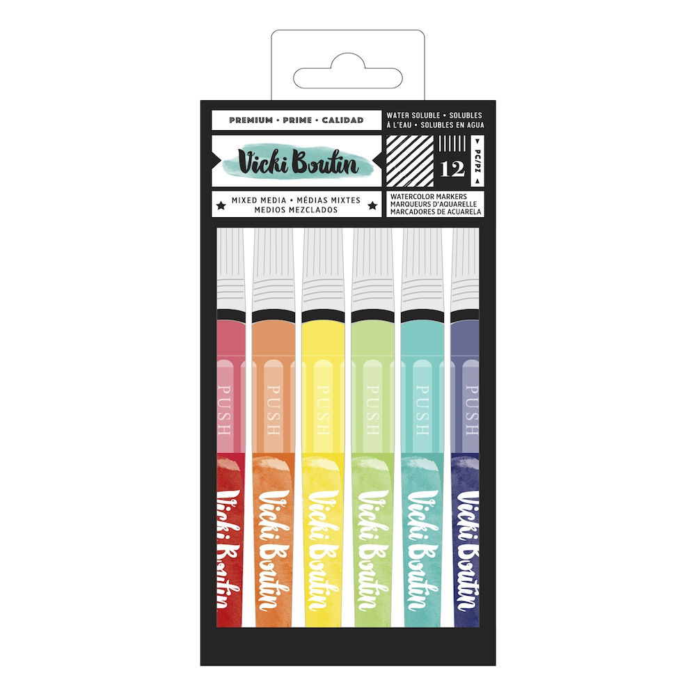 American Crafts Vicki Boutin WATERCOLOR MARKERS Color Kaleidoscope 348216 zoom image