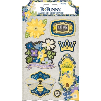 BoBunny BEE-YOUTIFUL Layered Chipboard 7310493