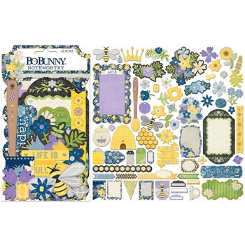 BoBunny BEE-YOUTIFUL Die Cuts Noteworthy 7310495*