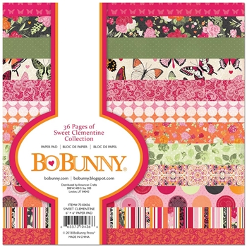 BoBunny 6 x 6 SWEET CLEMENTINE Paper Pad 7310436