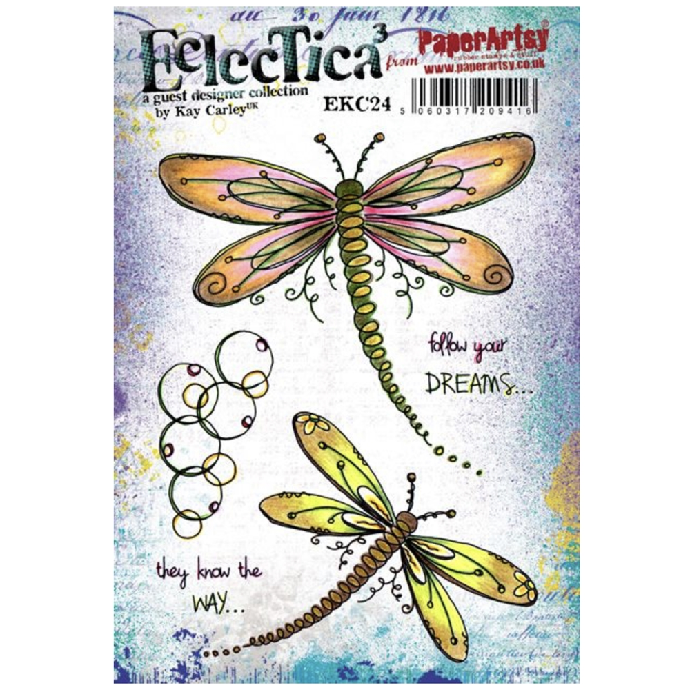 Paper Artsy ECLECTICA3 KAY CARLEY 24 Cling Stamp ekc24 zoom image