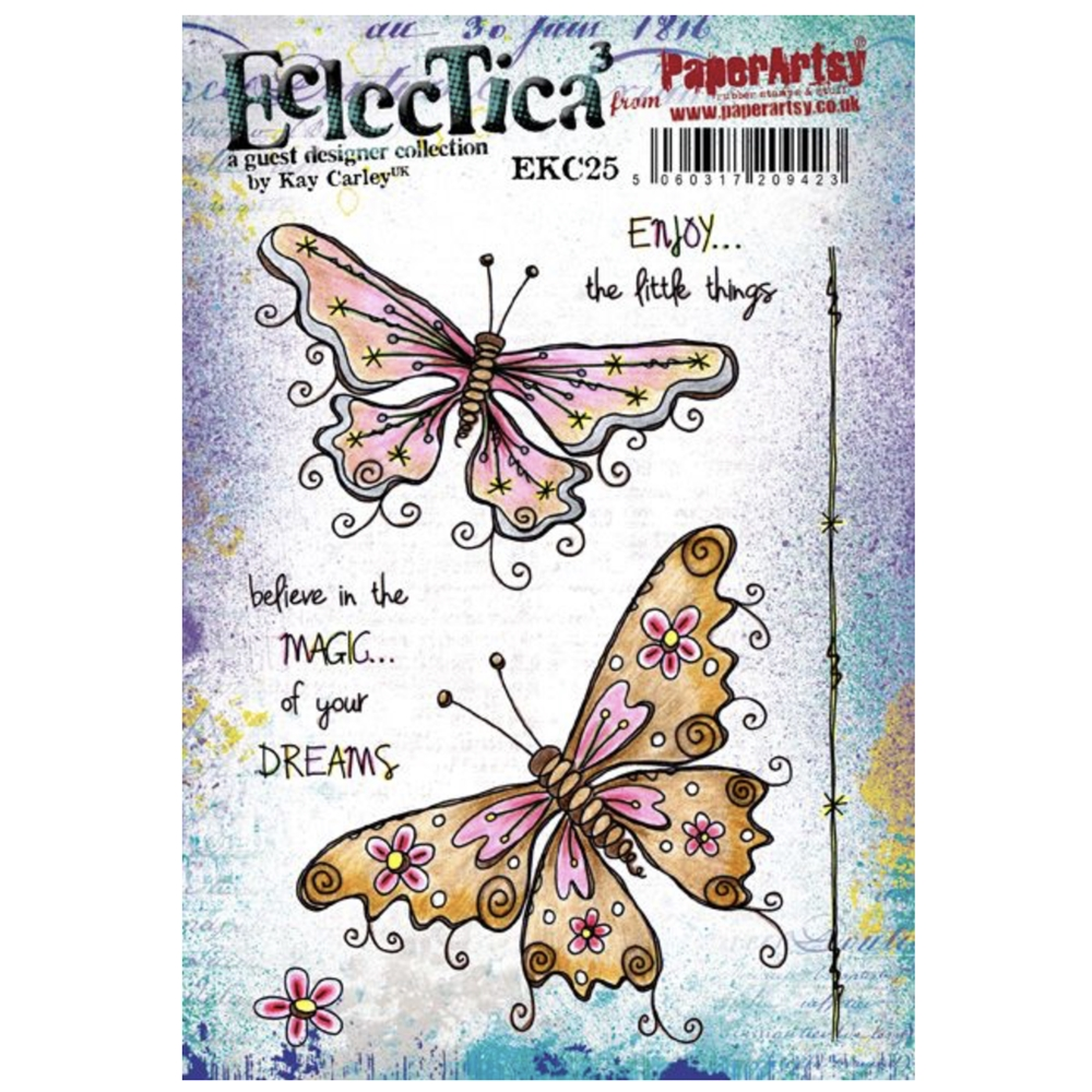 Paper Artsy ECLECTICA3 KAY CARLEY 25 Cling Stamp ekc25 zoom image