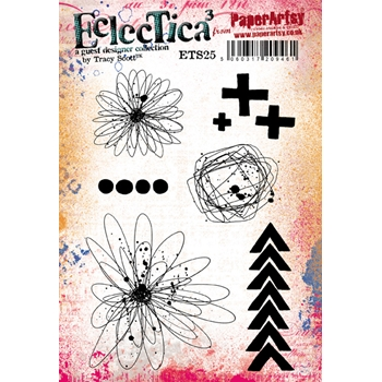 Paper Artsy ECLECTICA3 TRACY SCOTT 25 Cling Stamp ets25