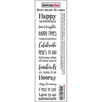 Darkroom Door Cling ANNIVERSARY Sentiment Stamp ddse006