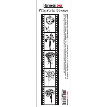 Darkroom Door Cling FLOWERS Filmstrip Stamp ddfs103