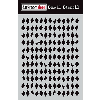 Darkroom Door DIAMONDS Small Stencil ddss024