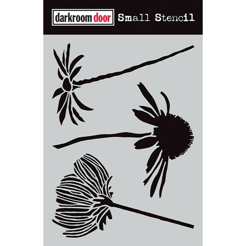 Darkroom Door CARVED FLOWERS Small Stencil ddss025 Preview Image