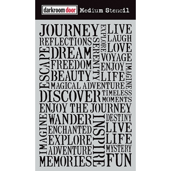 Darkroom Door JOURNEY Medium Stencil ddms002