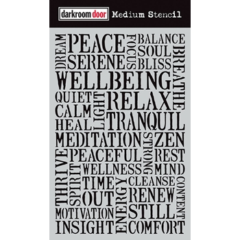 Darkroom Door WELLBEING Medium Stencil ddms004