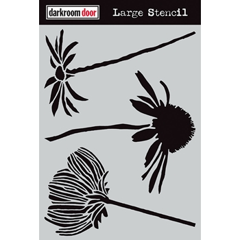 Darkroom Door CARVED FLOWERS Large Stencil ddls013