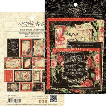 Graphic 45 LOVE NOTES Journaling And Ephemera Cards 4501830