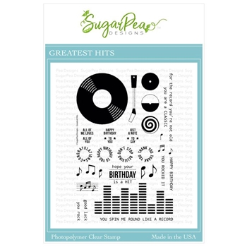 SugarPea Designs GREATEST HITS Clear Stamp Set spd-00327