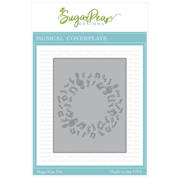 SugarPea Designs MUSICAL COVER PLATE SugarCuts Die spd-329