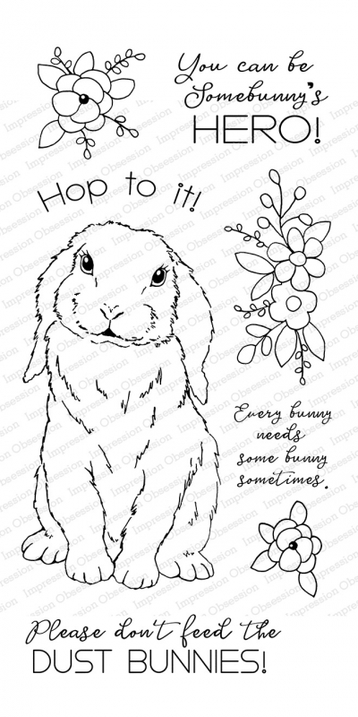 Impression Obsession Clear Stamps SWEET BUNNY WP927 zoom image