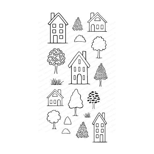 Impression Obsession Clear Stamps HOUSES WP923 Preview Image