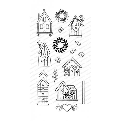 Impression Obsession Clear Stamps BIRDHOUSES WP922 Preview Image