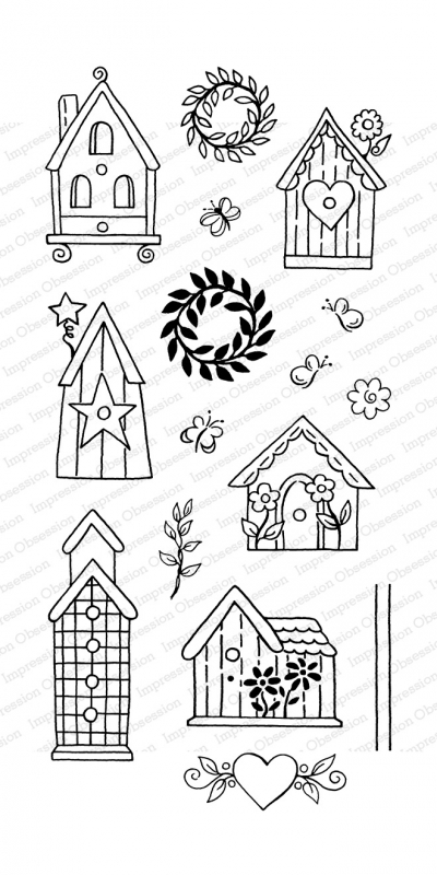 Impression Obsession Clear Stamps BIRDHOUSES WP922 zoom image