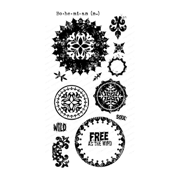 Impression Obsession Clear Stamps BOHO MANDALAS WP920