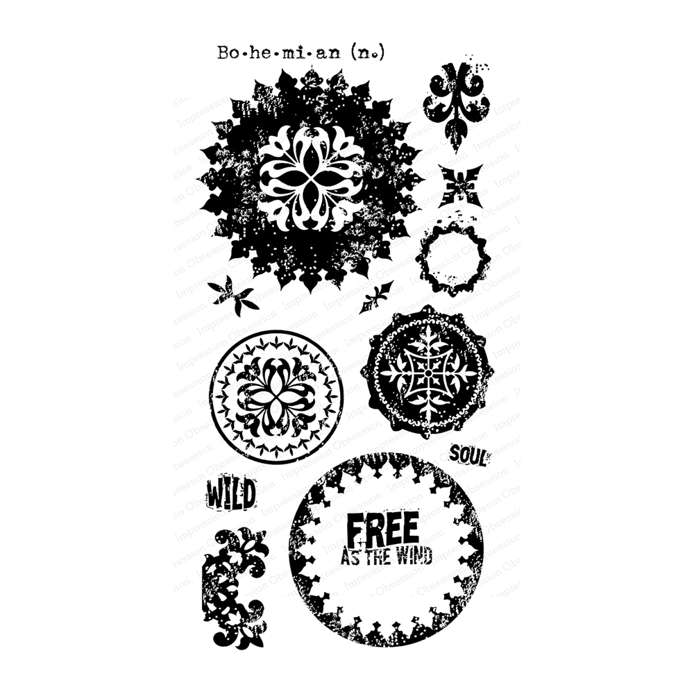 Impression Obsession Clear Stamps BOHO MANDALAS WP920 zoom image