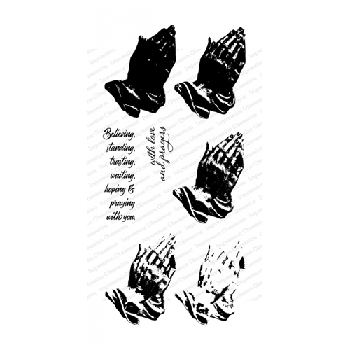 Impression Obsession Clear Stamps LAYERED PRAYING HANDS WP917 Preview Image