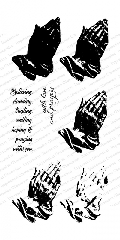Impression Obsession Clear Stamps LAYERED PRAYING HANDS WP917 zoom image