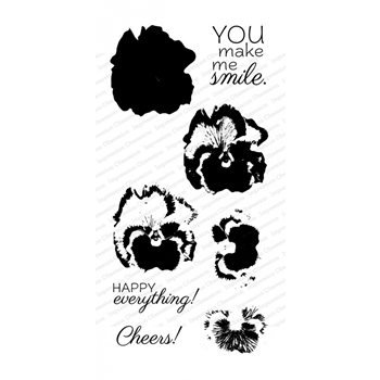 Impression Obsession Clear Stamps LAYERING PANSY WP916