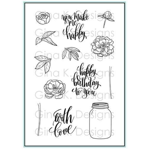 Gina K Designs YOU MAKE ME HAPPY Clear Stamps 3412 Preview Image