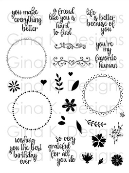 Gina K Designs WREATH BUILDER Clear Stamps 2385 zoom image