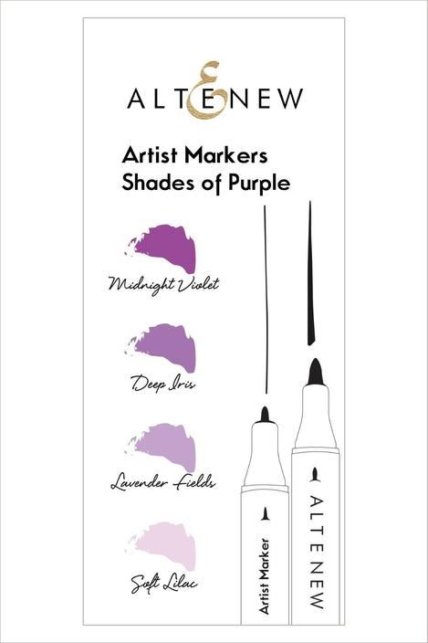 Altenew Artists Markers SHADES OF PURPLE ALT1962 zoom image