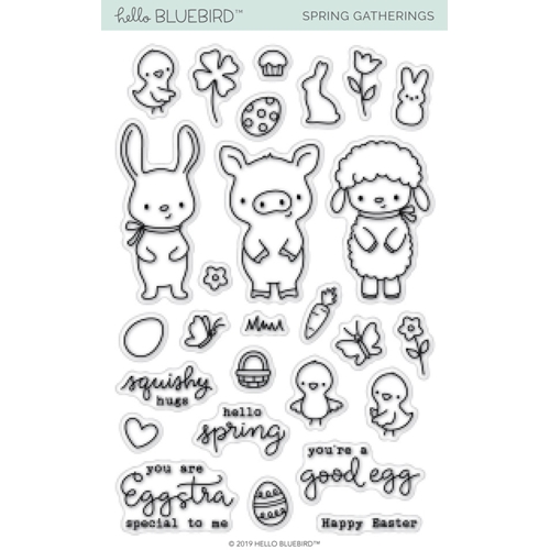 Hello Bluebird SPRING GATHERINGS Clear Stamps hb2162 Preview Image