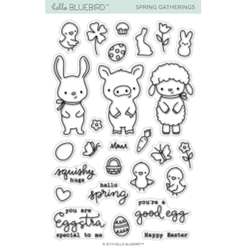Hello Bluebird SPRING GATHERINGS Clear Stamps hb2162