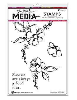 Dina Wakley GOOD IDEA Media Cling Rubber Stamp MDR66231