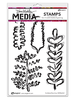 Dina Wakley SCRIBBLED BRANCHES Clear Stamp Set MDR66262 zoom image