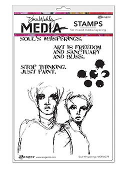 Dina Wakley SOUL WHISPERINGS Media Cling Rubber Stamp MDR66279*