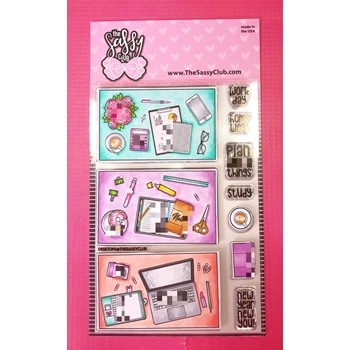 The Sassy Club DESKTOPS Clear Stamps TSCL172*