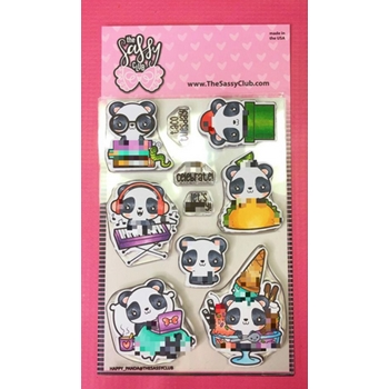 The Sassy Club HAPPY PANDA Clear Stamps TSCL169*
